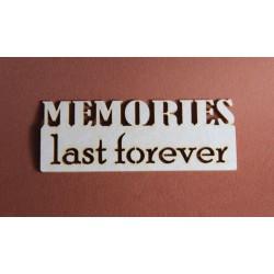 Tekturki MEMORIES LAST FOREVER
