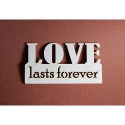 Tekturki LOVE LASTS FOREVER
