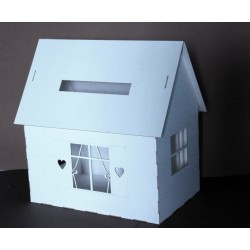 Domek pudełko na koperty telegramy ślubne