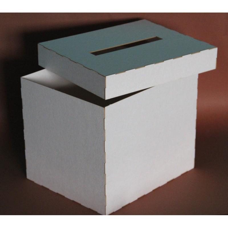 Bardzo dobryFantastyczny Pudełko na koperty, telegramy ślubne 24x24x20 cm - Filigranki II05
