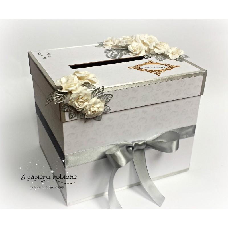 Dodatkowe Pudełko na koperty, telegramy ślubne 24x24x20 cm - Filigranki GA49
