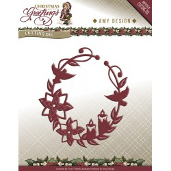 Amy Design wykrojnik  Christmas Greetings  Ornament