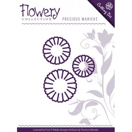 Flowery wykrojniki 3szt kwiatki stokrotki Daisy