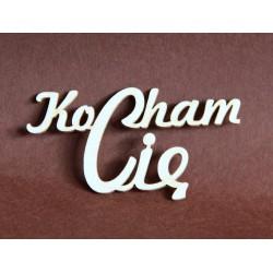 Tekturka napis KOCHAM CIĘ mały