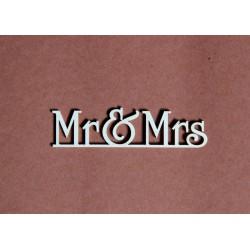 Tekturka napis Mr&Mrs 24a