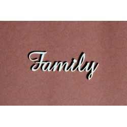 Tekturka napis FAMILY 25b