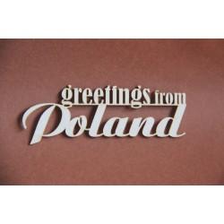 Tekturka napis GREETINGS FROM POLAND