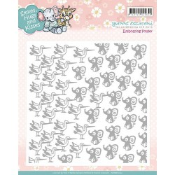 Embossing Folder - Yvonne Creations - Smiles, Hugs and Kisses