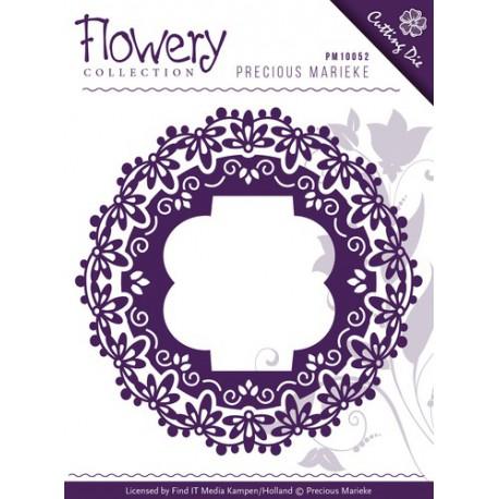 Wykrojnik Precious Marieke - Flowery - Fleur-de-Lis Frames