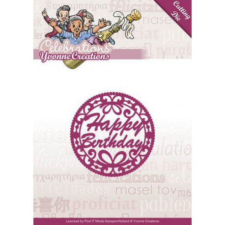 Wykrojnik Yvonne Creations - Celebrations - Happy Birthday