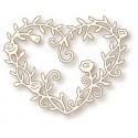 WRS Heart Rose Vine wykrojnik serce