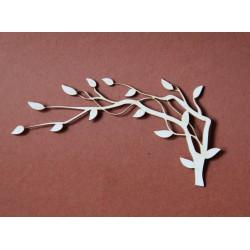 Tekturka drzewo, gałąź z listkami