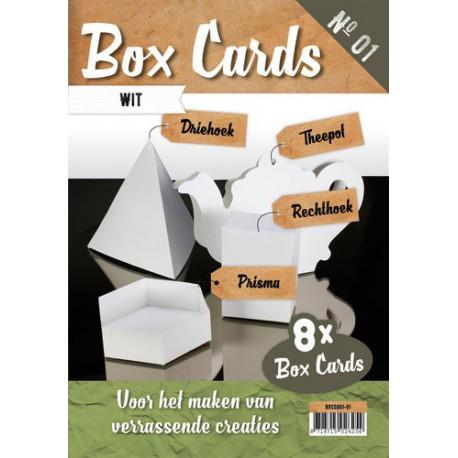 Box Cards zestaw 8szt. bazy do pudełek białe