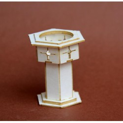 Chrzcielnica 3D z tektury