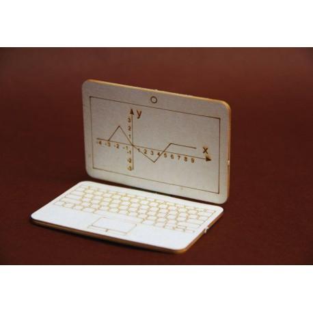 Laptop 3D z tektury