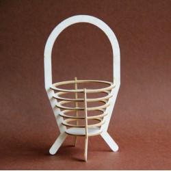 Koszyk 3D z tektury