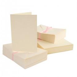 ZESTAW 50 szt. baza+koperta kwadratowe białe
